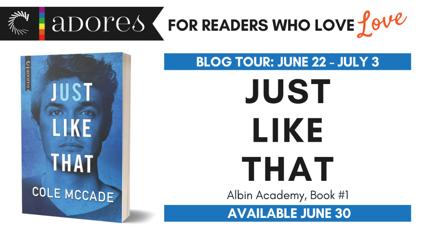 Blog Tour: Just Like That by Cole McCade // Review + Excerpt